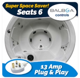 plug and play round hot tub